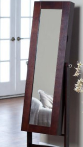 Mirror with jewelry armoire -new