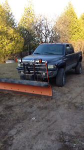 2002 Dodge Power Ram 2500 Pickup Truck with 8ft Arctic Snow Plow