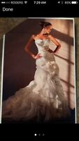 Wedding dress size 8 worn once beautiful