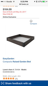 ISO: raised garden bed