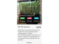 Fish tank aquariun