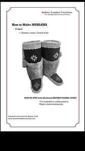 LEARN TO MAKE MUKLUKS, MOCCASINS, MITTS ETC. FOR FUN OR PROFIT