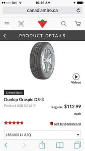 4 Dunlop Graspic DS-3 Tires