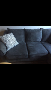 Barely used grey sectional couch
