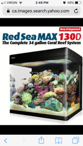 Red Sea Max 130D. 34 Gallon Coral reef system