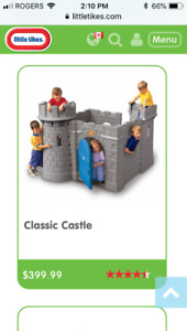 Castle climber little tikes kids bed