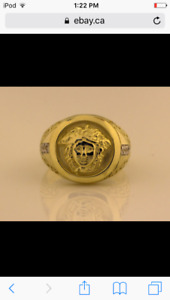 10k Versace ring/bague en 10k Versace