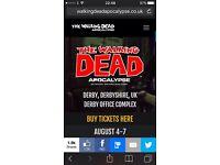 The Walking Dead Zombie Apocalypse Tickets X 2 DERBY Saturday 6th August