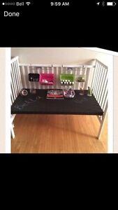 Children's chalked craft table