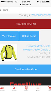Firstgear mesh textile women's jacket yellow large