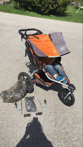 Bob revolution stroller with graco car seat adapter