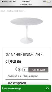 """36"""" round marble tulip table (Saarinen style)"""