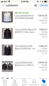 Over 100 Lululemon Items for Sale, Size 6