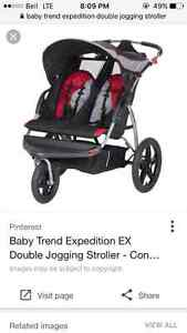 Baby Trend Expedition EX double jogging stroller St. John's Newfoundland image 5