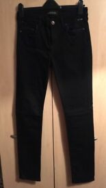 BRAND NEW, NEVER WORN Black Skinny Jeans. Size 12, from River Island