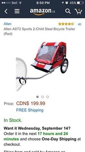 Allen 2 Child Bicycle Trailer - Brand New Installed Strathcona County Edmonton Area image 1