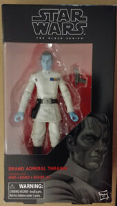 "Hasbro 6"" Star Wars Black series Grand Admiral Thrawn"
