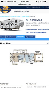2012 31' Rockwood 5th wheel