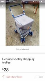 Genuine Sholley shopping trolley