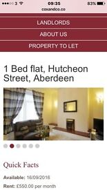 One bed flat for rent.