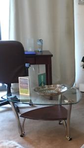 Ashley Pascal Chrome & Glass Coffee Table
