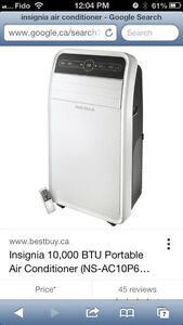 Brand new 12000btu insignia portable air conditioner