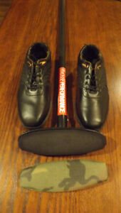Like new Men's Curling Shoes and Broom