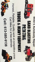 Needs and painting done on your  heavy equipment cars or trucks