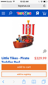 Little tikes pirate toddler bed
