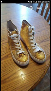 """Gold""  sequenced shoes"