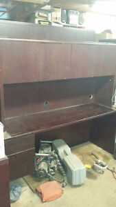 For sale Desk With upper Cabinet