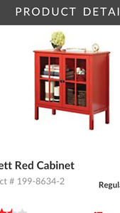 Wanted Red Cabinet