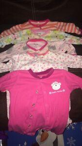 Pijamas pour bebe fille hiver .. 0-3 mois