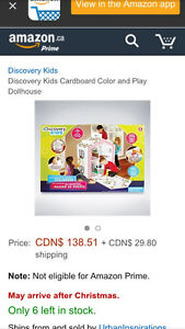 NEW Discovery kids colour and play dollhouse for Barbies too
