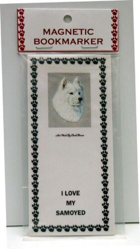 "SAMOYED DOG MAGNETIC BOOKMARK,""I LOVE MY SAMOYEDI"""