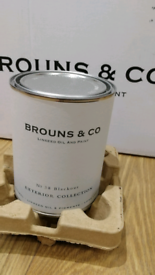Linseed Oil paint (Brouns & Co).