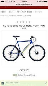 COYOTE BLUE RIDGE MENS MOUNTAIN BIKE Out one Time Only and cost over £200