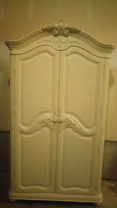 Gorgeous Antique White Armoire