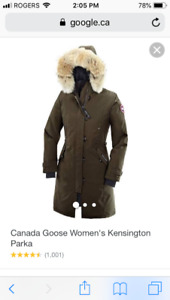 Canada Goose Kensington Parka Brand New Xl Military Green