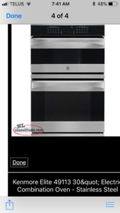 Kenmore Elite 49113 stainless steel electric combo oven/micro