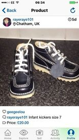 Infant kickers size 7 new!!