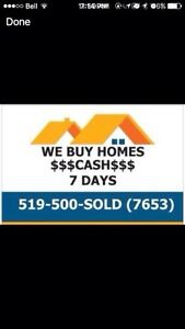 "I Buy Houses! ""Quick,Easy, Cash Offer"" Cambridge Kitchener Area image 1"