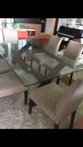 Beautiful Dining Room Table (glass and wood)