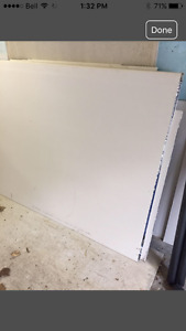Drywall and concrete board