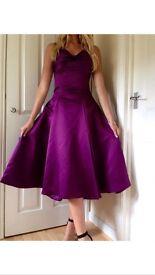 Size 10 Designer Purple Dress