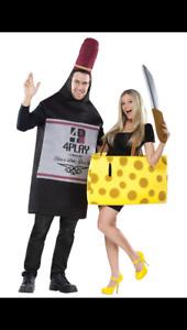 Wine & Cheese adult Halloween costume