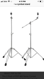 DW HI hat stand, Dubble Bass pedal and cymbal stands.