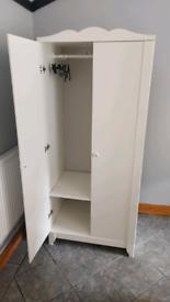 Wardrobe Ikea Hensvig white 2 doors