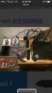 PS3 with 9 games included with PlayStation move 200$$