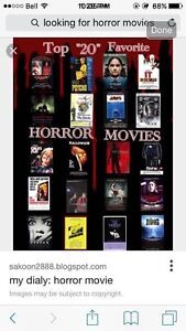 Looking For: Horror Movies